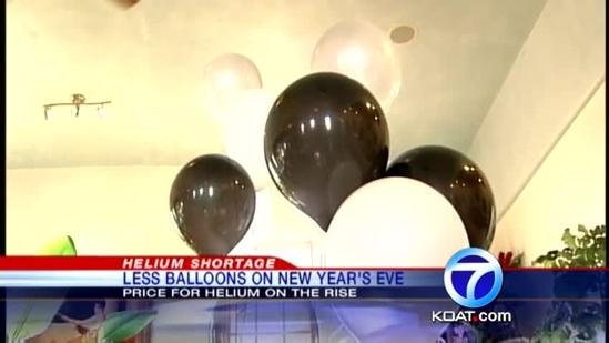 Helium prices affecting New Year Eve balloons
