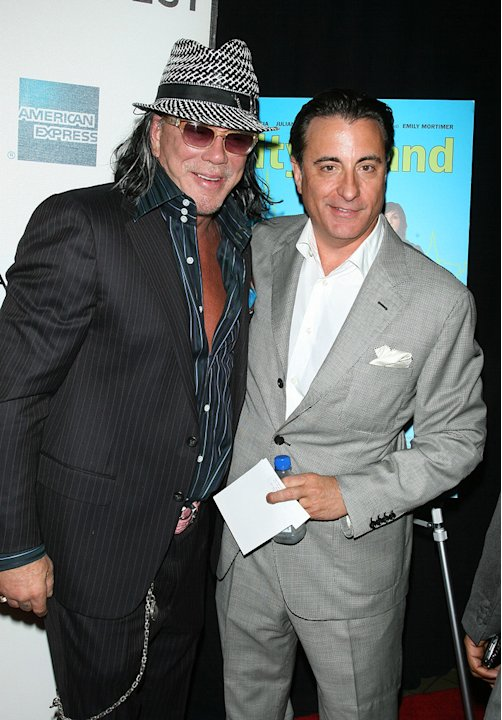 2009 Tribeca Film Festival City Island Mickey Rourke Andy Garcia