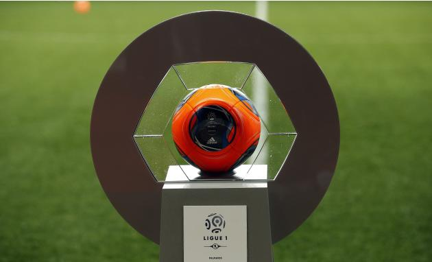 The ball of the French Ligue 1 soccer match between AS Monaco and Sochaux is seen before the game at Louis II stadium in Monaco