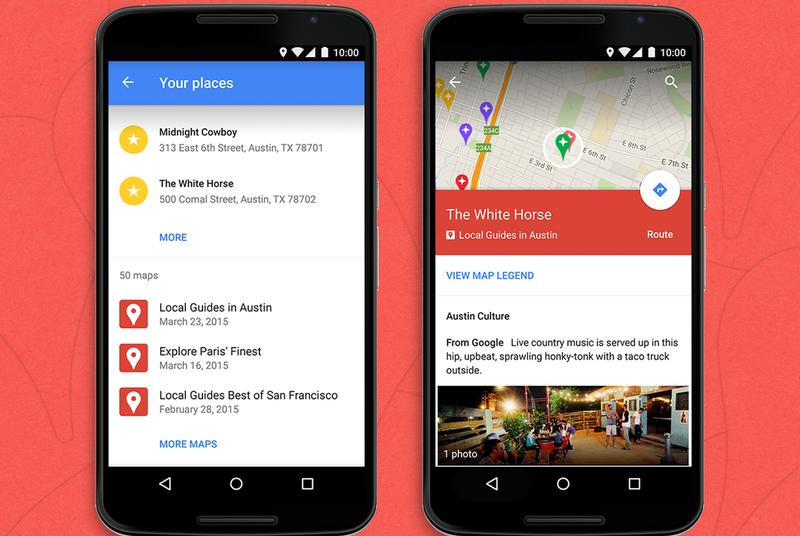 Google now lets you view custom maps in the main Android Maps app