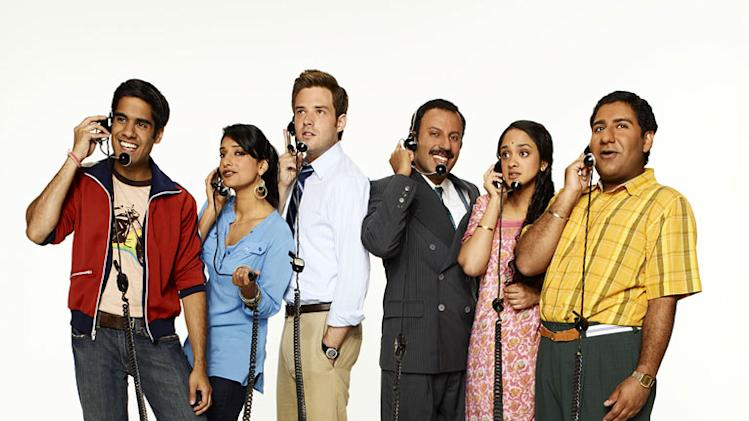 "The cast of ""Outsourced."""