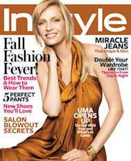Uma Thurman on the cover of In Style