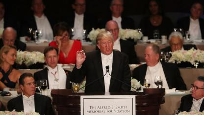 Traditional Pre-Election Dinner Turns Ugly As NYC Elites Boo Trump For Clinton Jabs