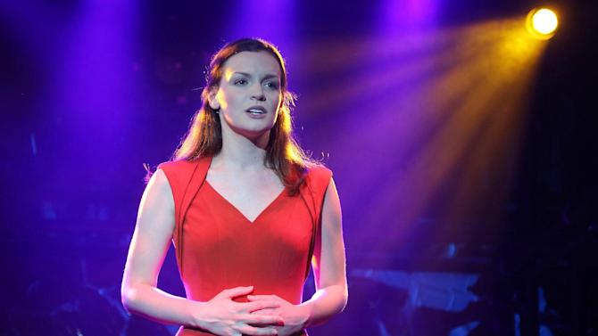 """This undated theater publcity image released by The Public Theater shows actress Jennifer Damiano in the Public Lab musical """"Venice,"""" running at The Public Theater at Astor Place in New York. Damiano is following up her role as Mary Jane Watson in """"Spider-Man: Turn Off the Dark"""" with a darker, less cartoonish young woman in """"Venice,"""" a thrilling musical that debuts at the Public this month. It marks her return to the stage after taking time off after a five-year nonstop grind. (AP Photo/The Public Theater, Joan Marcus)"""