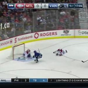 Carey Price Save on Yannick Weber (03:03/1st)