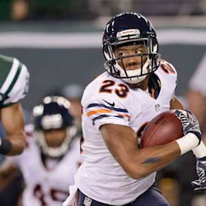 New York Jets quarterback Geno Smith intercepted by Chicago Bears cornerback Kyle Fuller