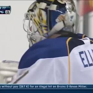 Brian Elliott flashes the glove on Ladd