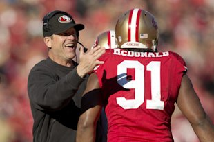 Harbaugh has announced his decision to play Ray McDonald vs. the Cowboys. (Getty)