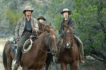 Christian Bale , Benjamin Petry and Logan Lerman in Lionsgate Films' 3:10 to Yuma