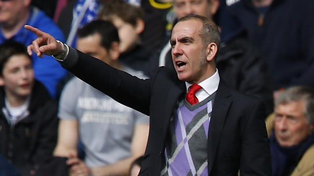 Paolo Di Canio stands on the touchline as Sunderland play Chelsea (Reuters)