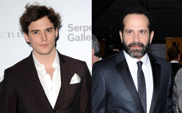 Sam Claflin, Tony Shalhoub -- Getty Images