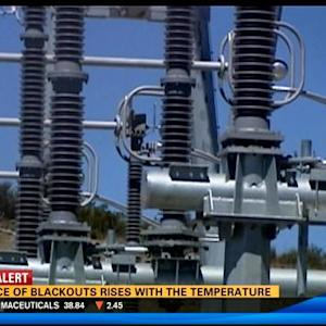 Chance of blackouts rises with the temperature