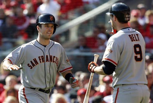 Giants beat Reds 6-4, win NLDS on Posey's slam