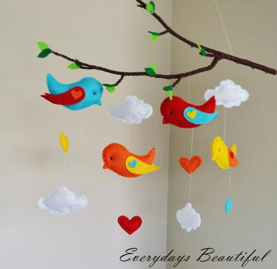 Love Birds Tree Mobile