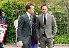 Gabriel Macht and Patrick J. Adams | Photo Credits: Christos Kalohorids/USA Network