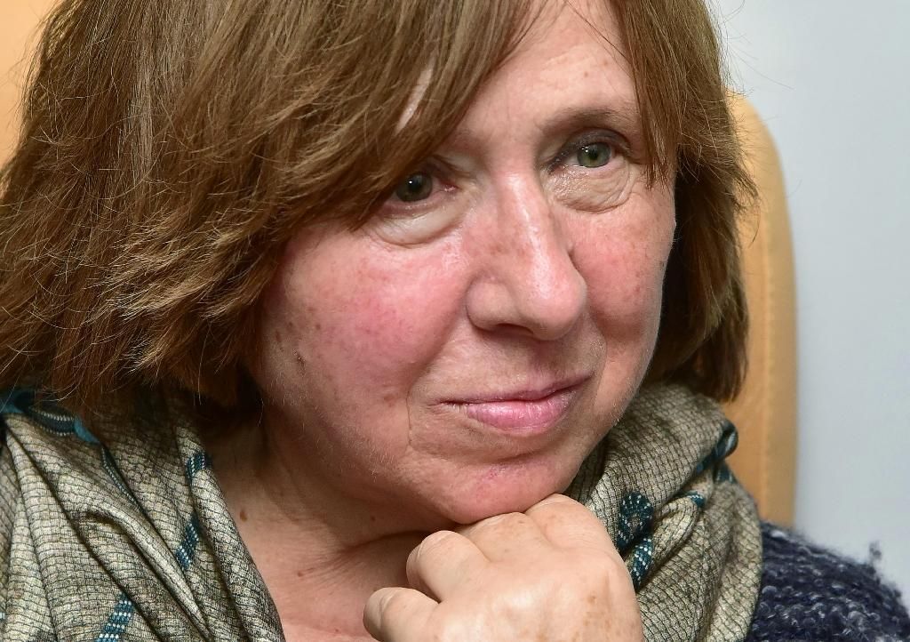 Pride, excitement and blank looks in Minsk as Alexievich wins Nobel