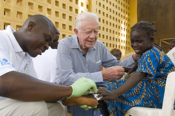 Jimmy Carter: I Want the 'Last Guinea Worm to Die Before I Do'
