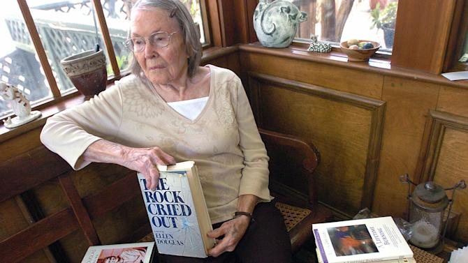 In this June 5, 2008 photograph Mississippi author and Jackson resident Josephine Haxton, who writes under the pen name Ellen Douglas, died Wednesday, Nov. 7, 2012 at her home in Jackson, Miss. She was 91. Douglas'  stories, novels and nonfiction were set in Mississippi and dealt candidly with race relations, families and the role of women. (AP Photo/The Clarion-Ledger, Vickie D. King) NO SALES