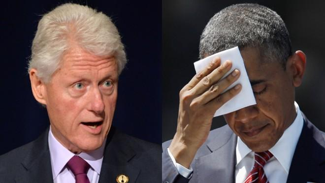 Not for the first time, there's some tension between America's two most recent Democratic presidents.