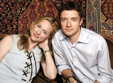 Laura Linney and Topher Grace 2004 Toronto International Film Festival - P.S. Portraits