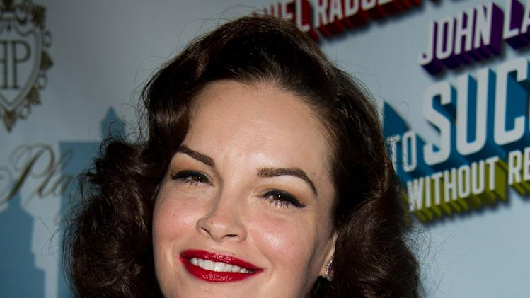 "FILE - In this March 27, 2011 file photo, actress Tammy Blanchard arrives to the opening night after party for ""How to Succeed in Business Without Really Trying"" in New York. Blanchard portrayed Judy Garland in a  2001 TV mini-series called ""Life With Judy Garland: Me And My Shadows."" (AP Photo/Charles Sykes, file)"