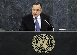 Egypt's Minister of Foreign Affairs Nabil Fahmy addresses the 68th United Nations General Assembly at UN headquarters in New York
