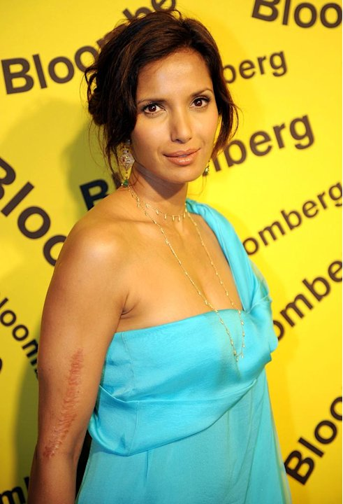 Padma Lakshmi arrives at the Embassy of Costa Rica in Washington, DC on April 26, 2008. Bloomberg Hosts White House Correspondents' Dinner After Party.