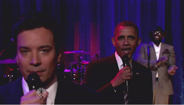 President Barack Obamaappears on NBC's 'Late Night With Jimmy Fallon' where he slow jams the news and answers twitter questions.  President Obama talks about the importance of a college ed