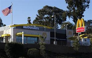 A newly constructed McDonald's restaurant is pictured in Encinitas, California