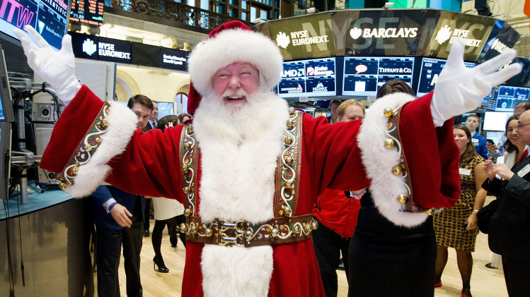 Stocks end higher in pre-holiday session