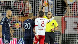 MLS Disciplinary Committee suspends New York Red Bulls' Juninho for dead-ball kick at Jimmy Nielsen