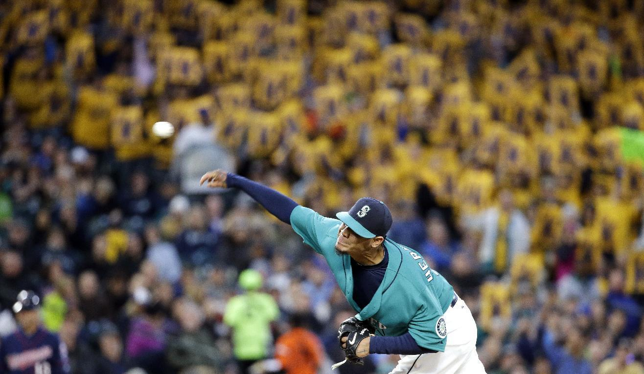 Hernandez dominant, Cruz goes deep as M's beat Twins 2-0