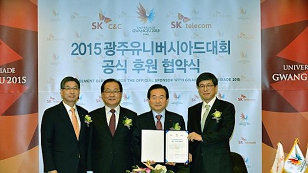 Summer Universiade sponsors SK C&C and SK Telecom