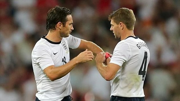 Steven Gerrard, right, and Frank Lampard start for England against Moldova tonight