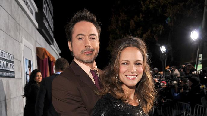 Sherlock Holmes A Game of Shadows 2011 LA Premiere Robert Downey Jr. Susan Downey