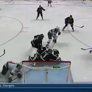 Jason Pominville makes move in front to score