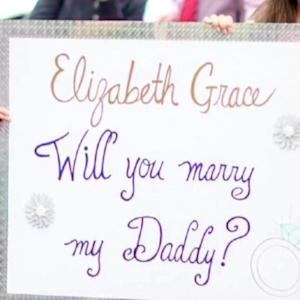 'Will You Marry My Daddy?' Son Helps Dad Propose with Surprise Flash Mob