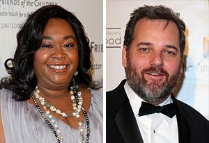Shonda Rhimes,  Dan Harmon | Photo Credits: Imeh Akpanudosen/Getty Images; Victor Decolongon/Getty Images