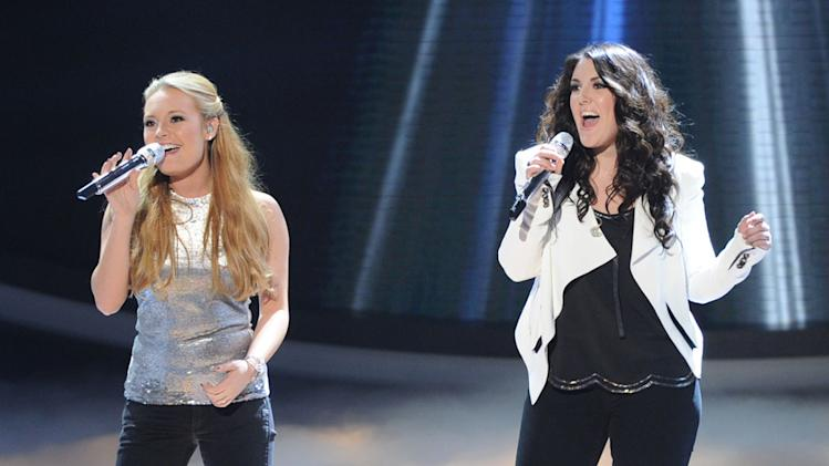 """American Idol"" Top 8 - Janelle Arthur and Kree Harrison"