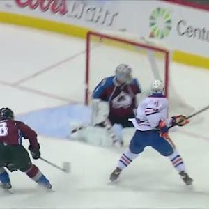 Taylor Hall fires one past Semyon Varlamov