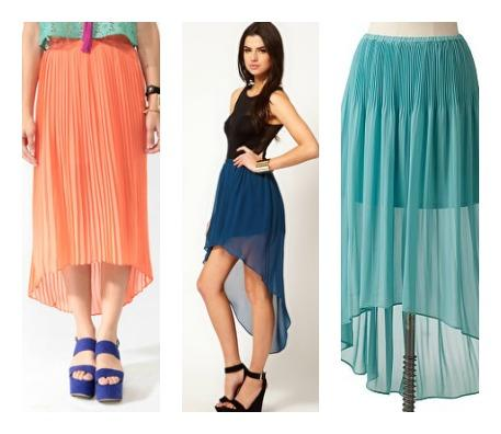 Flowy Skirts (High/Low Hem Lines)