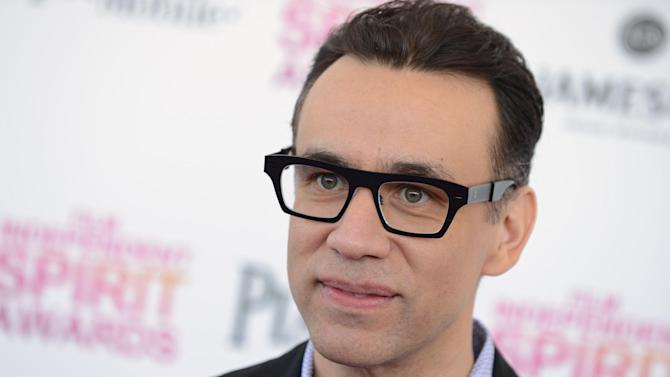 """FILE - In this Feb. 23, 2013 file photo, actor Fred Armisen arrives at the Independent Spirit Awards in Santa Monica, Calif. Armisen has confirmed that he has left """"Saturday Night Live"""" after 11 years. The actor dispelled any doubt about his exit in an interview posted Monday, July 1, 2013, by comedy website Splitsider. (Photo by Jordan Strauss/Invision/AP, File)"""