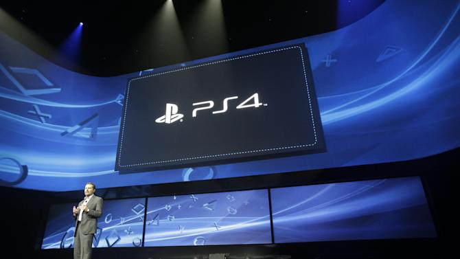 Andrew House speaks at an event to announce the Sony Playstation 4 Wednesday, Feb. 20, 2013, in New York. (AP Photo/Frank Franklin II)