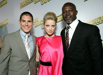 Sean Faris , Amber Heard and  Djimon Hounsou at the Los Angeles premiere of Summit Entertainment's Never Back Down