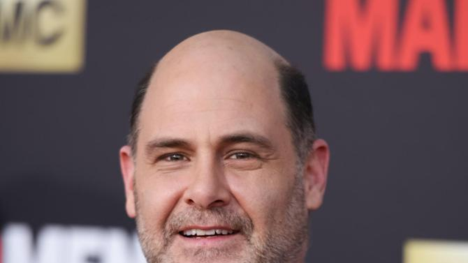 "FILE - In this March 25, 2015 file photo, Matthew Weiner arrives at The Black And Red Ball In Celebration Of The Final Seven Episodes Of ""Mad Men"" in Los Angeles. The final episodes of ""Mad Men,"" will begin on Sunday at 10 p.m. on AMC. (Photo by Richard Shotwell/Invision/AP, File)"