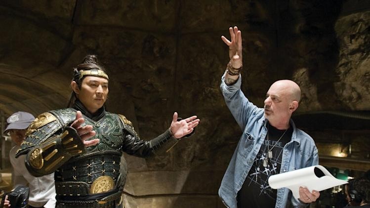 Jet Li Rob Cohen Director The Mummy: Tomb of the Dragon Emperor Production Universal Pictures 2008