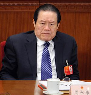 Zhou Yongkang attends a ceremony at the Great Hall of the People in Beijing, on March 5, 2012