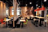 The interior of the Olympics McDonald&#39;s restaurant in London