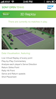 [Pretend to] Know The Game At Sony Tennis Open With SAP Mobile App image SAP Sony Open Gimmelstob Presenting