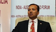 Naveen Jindal chairman of India-Australia CEO forum and chairman and managing director of Jindal steel and power gives a press conference in New Delhi, March 2012. India&#39;s Jindal Steel and Power scrapped plans to invest $2.1 billion in a Bolivian mining project and blamed the South American nation&#39;s &quot;non-friendly business attitude&quot; for the deal&#39;s collapse